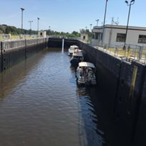 Water at the St Lucie Locks May 2016