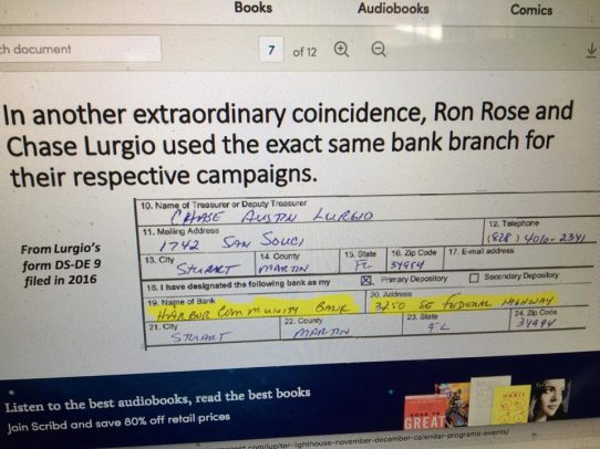 Connection between Ron Rose and Chase Lurgio
