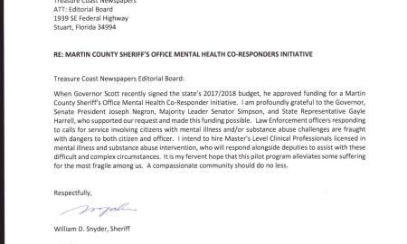 MC Sheriff Snyder announces mental health initiative