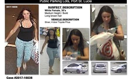 BOLO Female Auto Burglar/credit card fraud