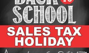 Tax-free weekend begins today