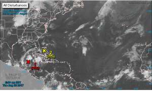 Invest 92L brings wet weather