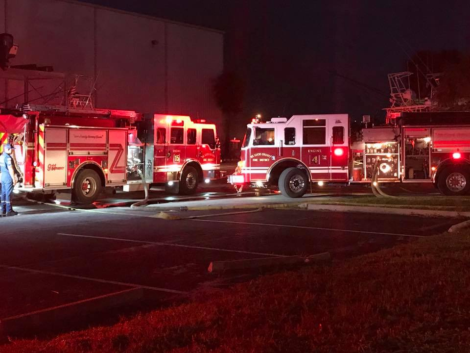 Early morning fire at Taylor Marine