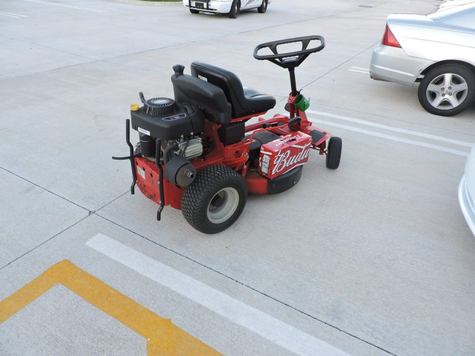 PSL: Man arrested for DUI on lawn mower.