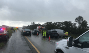 Multi-vehicle crash on I95 in Martin County