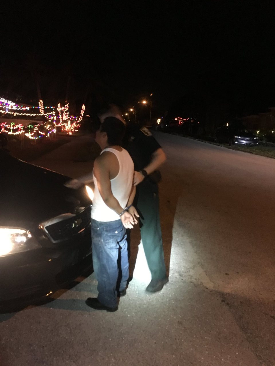 Martin County: Drunk driver stopped with trash can under car