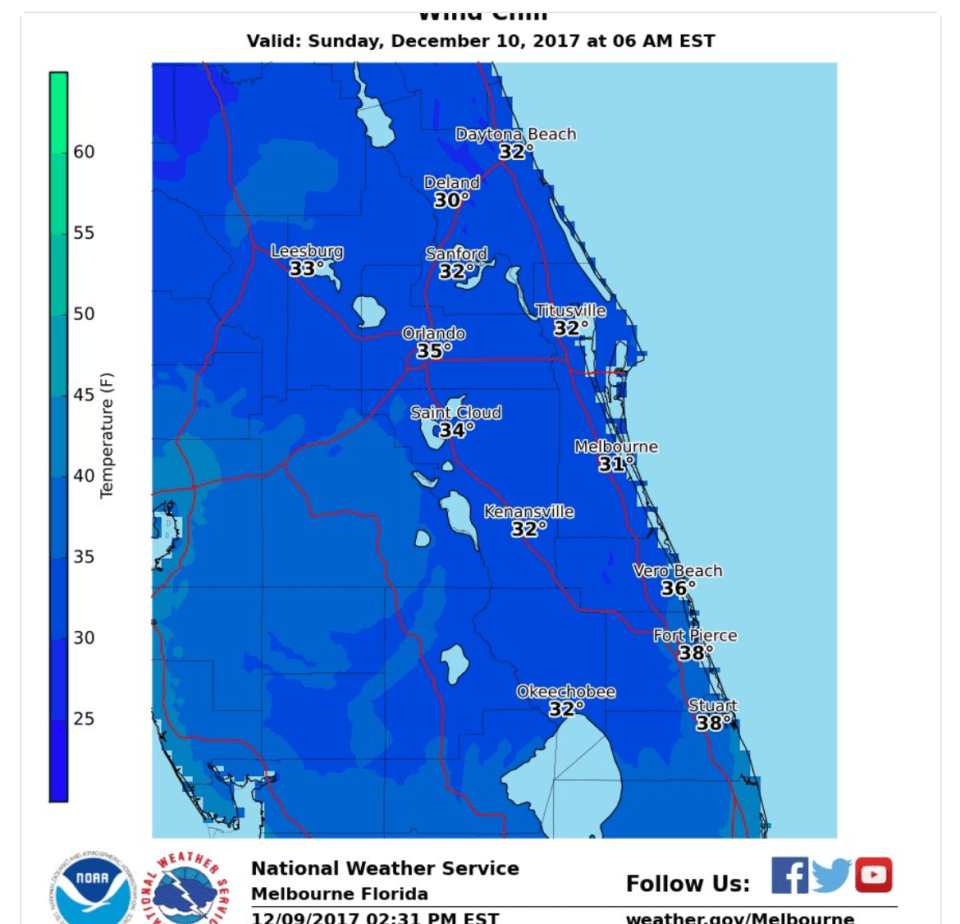 Wind Chill Advisory in effect 3am-8am