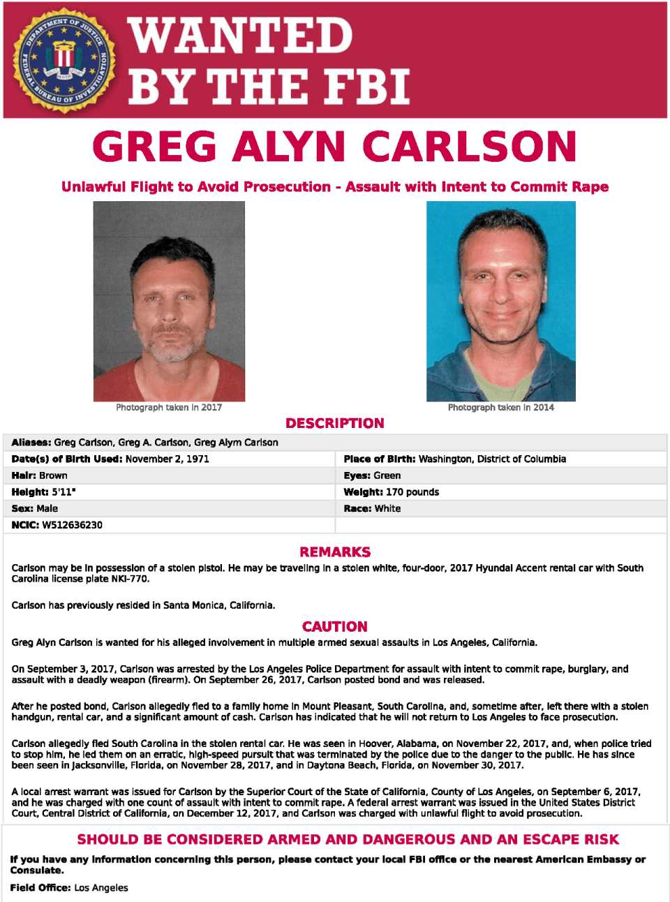 Federal fugitive may have been in Vero Beach area