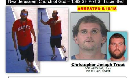 PSL Church vandalism suspect arrested