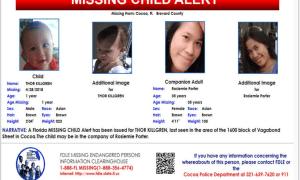 Florida MISSING CHILD Alert: THOR KILLGREN