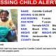 A FL MISSING CHILD Alert: Jacksonville 9 year old black female