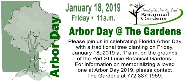 Arbor Day at the Port St. Lucie Botanical Gardens