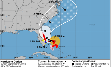 A Hurricane Warning has been issued from Jupiter Inlet to the Volusia/Brevard County Line