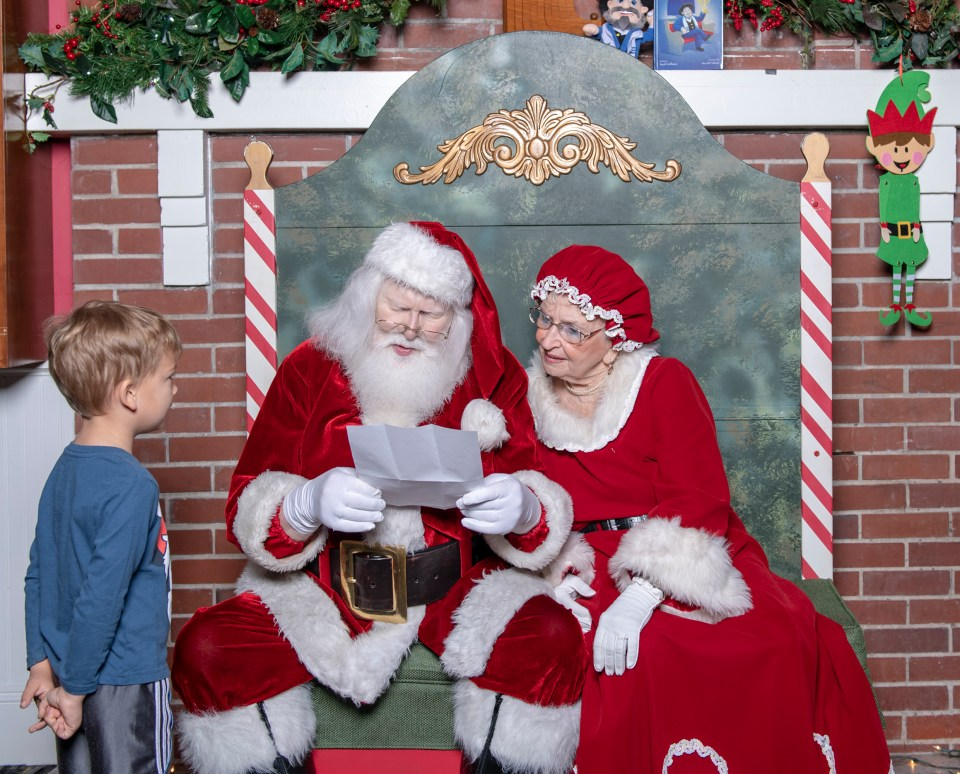 Photo 2: 4 year old Aedan Callahan presents a letter he wrote to Santa & Mrs. Clause at the 2018 Festival of Trees & Lights. This Year's free Breakfast and Photos with Santa will take place on Saturday, November 23rd from 8:30-10:30 a.m