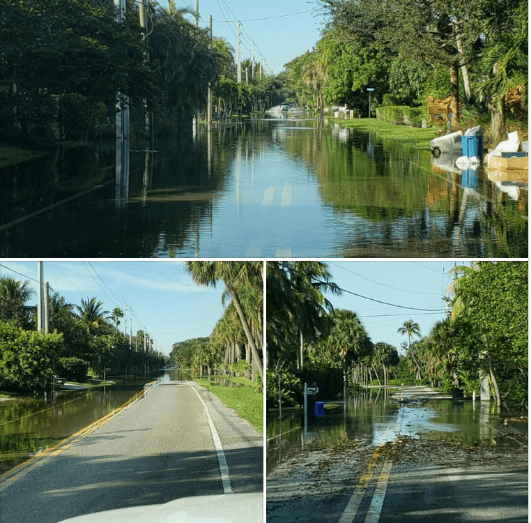 BEWARE OF FLOODING ON BOTH NORTH AND SOUTH SEWALL'S POINT ROAD