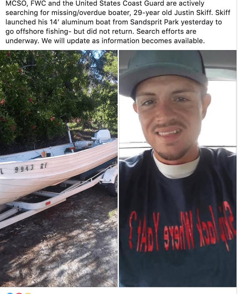Missing boater found safe by Coast Guard