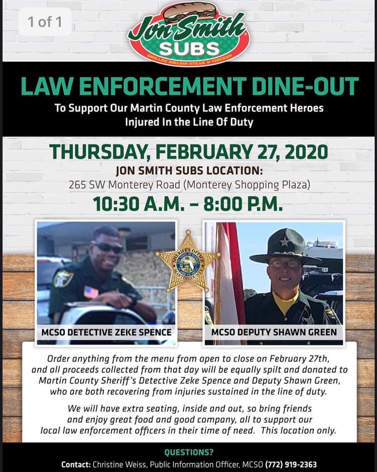 Community raising money to help two Martin County Deputies