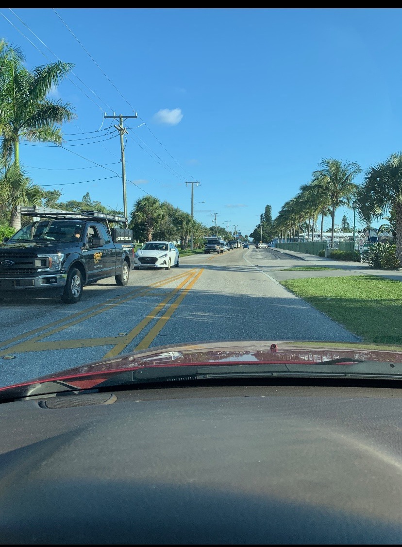 Traffic is backed up to Ocean Breeze.Sandi Sandelier Blankenship