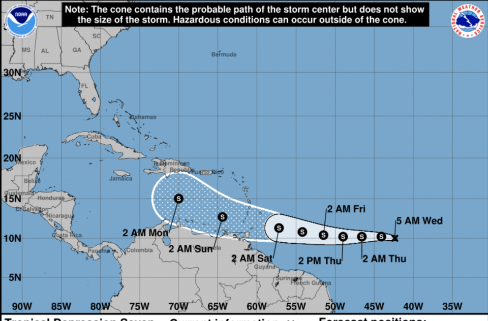 Tropical Depression Seven has formed