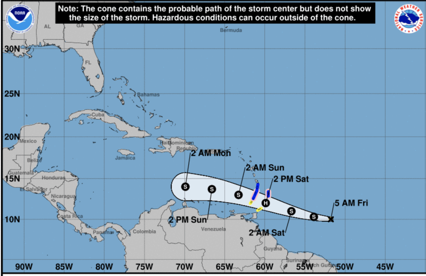 TS Gonzalo expected to be first hurricane of the season