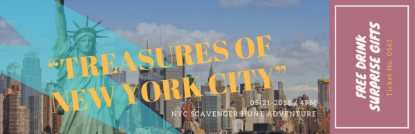 Scavenger hunt gift tickets Best New York City Attractions