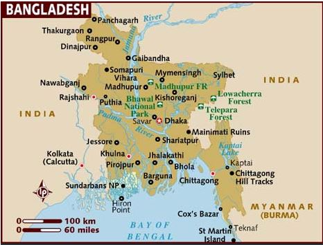 Bangladesh map - Self Help Group in Bausi