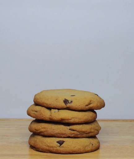 Chocolate Chip Cookies Stacked