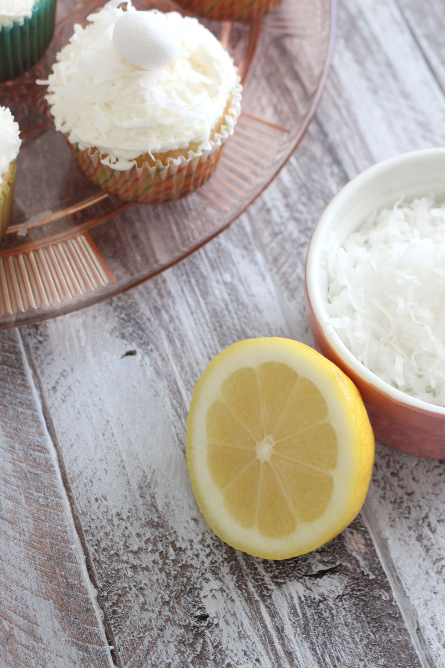 Lemon Cupcakes with Coconut Buttercream