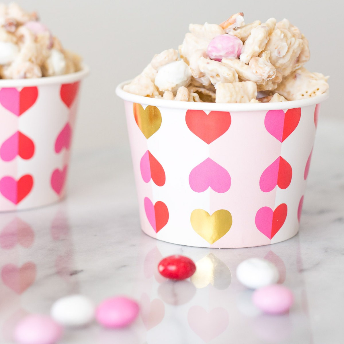 Sweet & Salty Valentine's Day Snack Mix