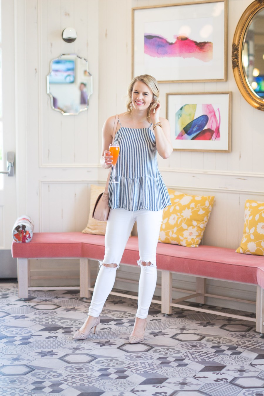 What To Wear To Brunch in Las Vegas, Bottiglia brunch, fashion blog, Treats and Trends
