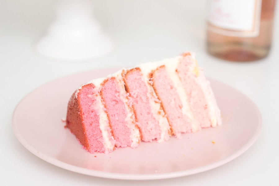 Pink Ombré Cake with Almond Buttercream for a Baby Shower, baking blog, Treats and Trends