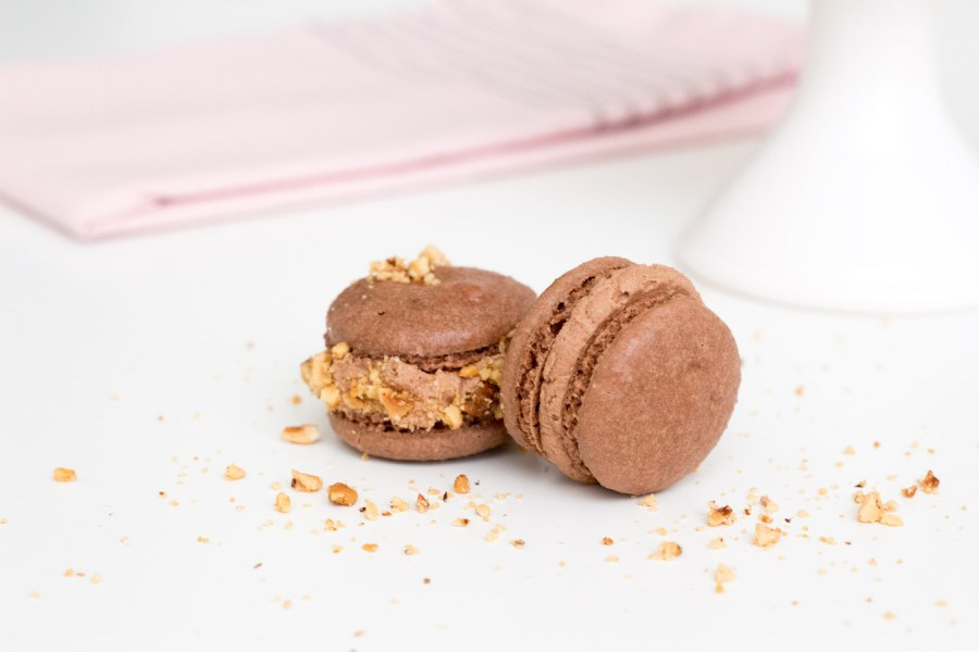 Chocolate Hazelnut Macarons Made with Nutella, National Macaron Day, baking blog, Treats and Trends