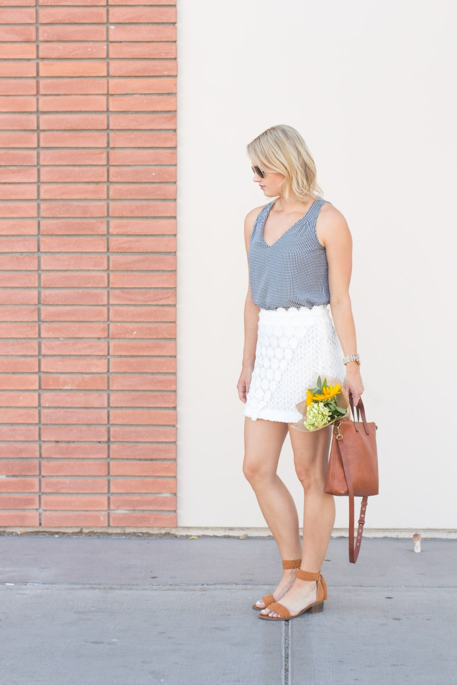 What To Wear With A White Lace Skirt, Topshop skirt, fashion blog, spring outfit idea, Treats and Trends