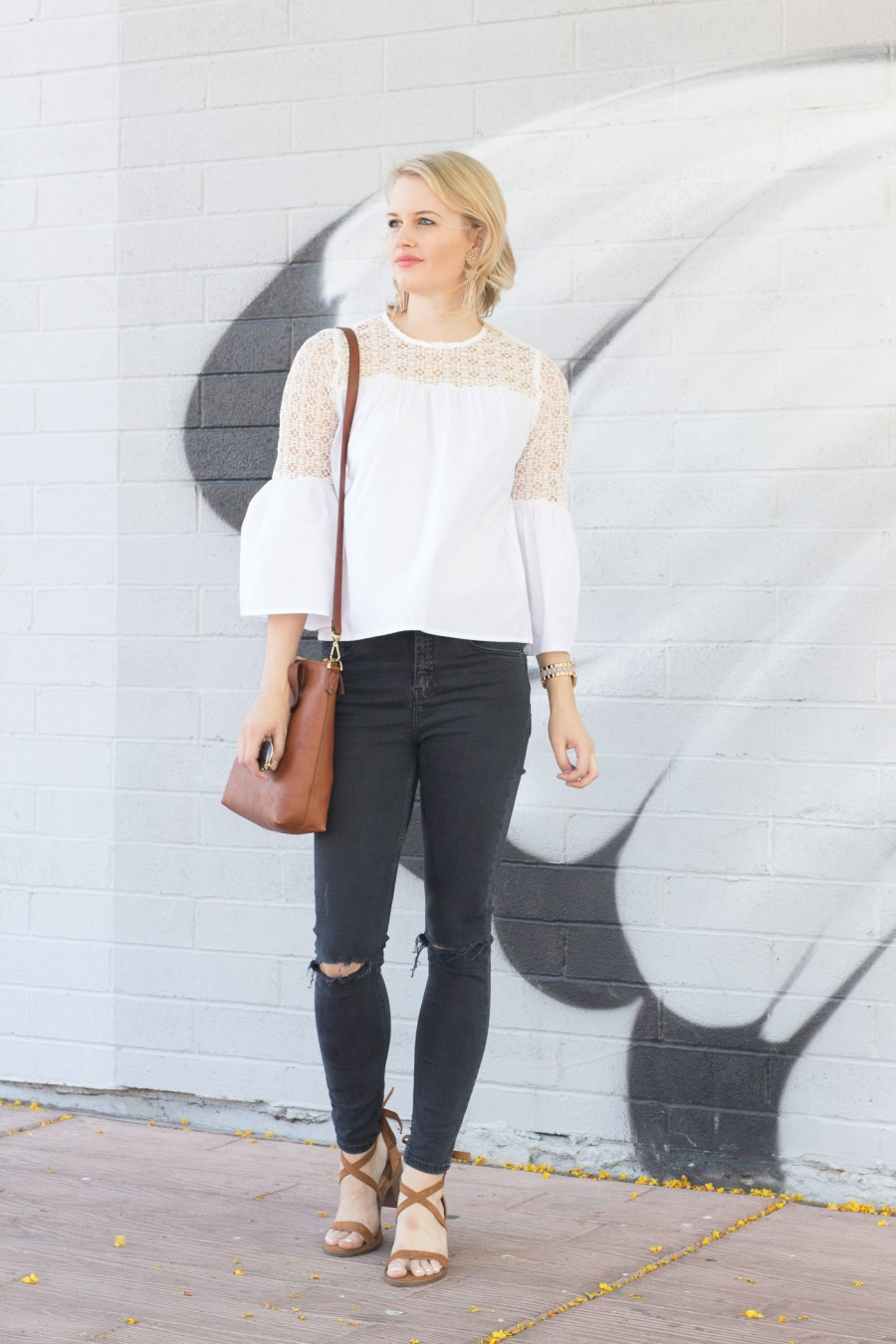 Bell Sleeves, Who What Wear Target top, spring outfit idea, fashion blog, Treats and Trends