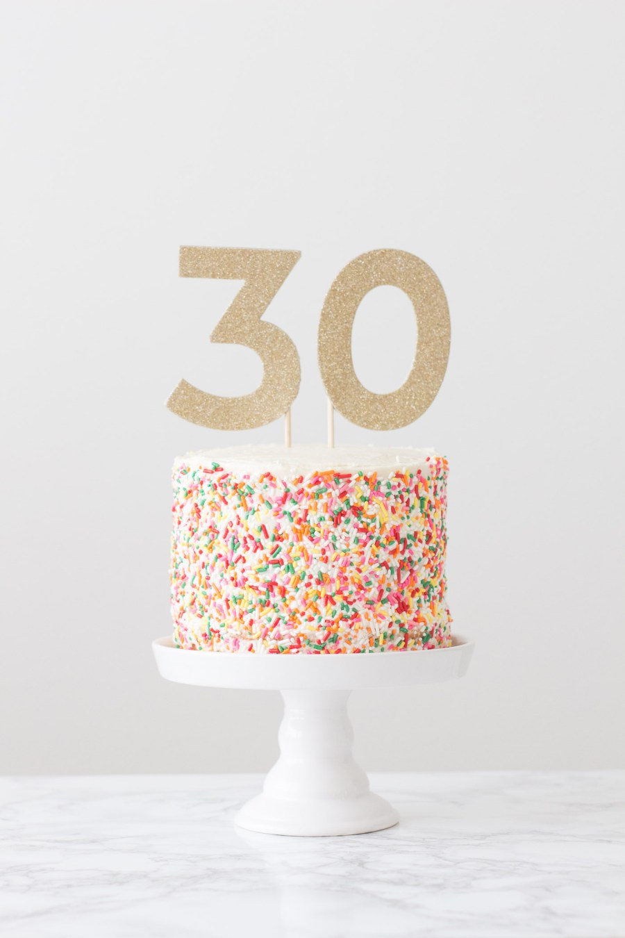 How To Decorate A Sprinkle Cake