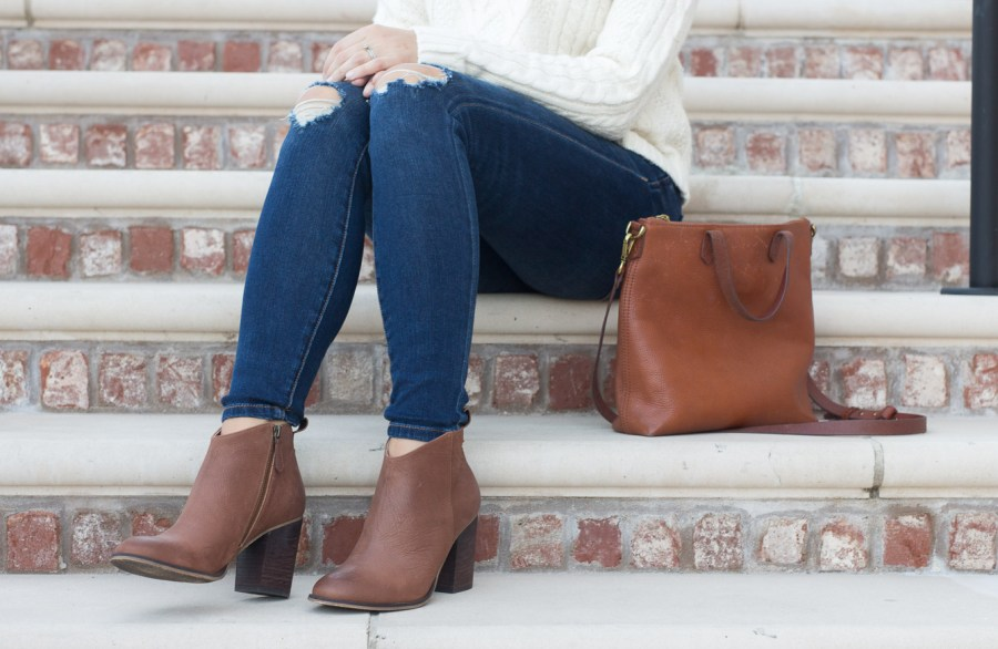 cognac BP booties for fall under $100