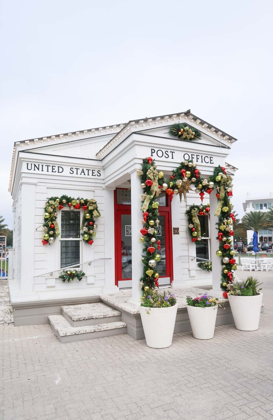 Seaside Florida 30A Post Office Christmas Decorations