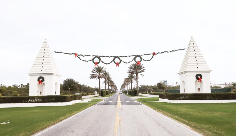 Alys Beach Christmas decorations on 30A