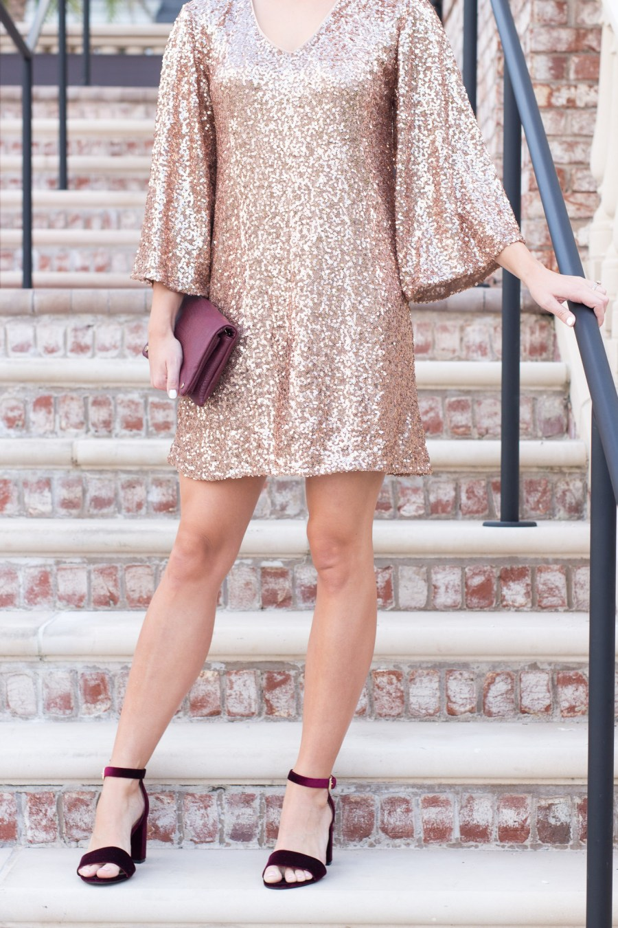 sequin dress from Maggy London for holiday parties