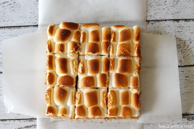 No Bake S'mores Bars (treatswithatwist.com)
