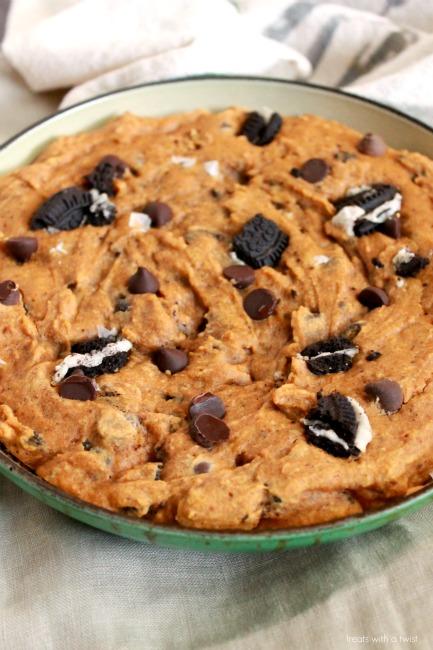 Pumpkin Chocolate Chip Skillet Cookie 3