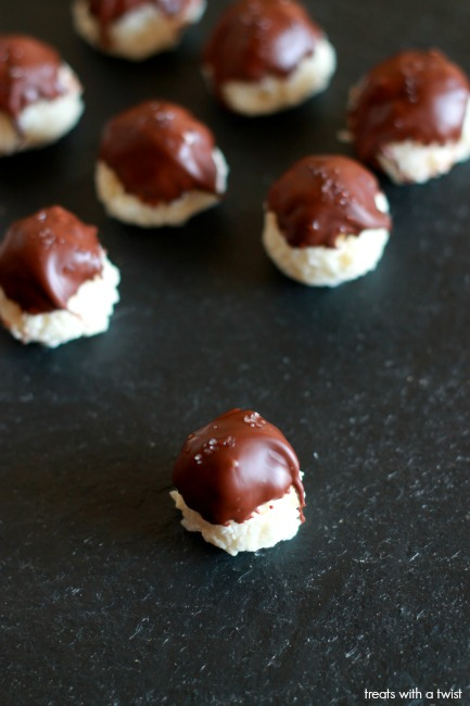 Chocolate Dipped Coconut Truffles 1