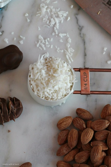 Almond Joy Ice Cream Bars // gluten free // treatswithatwist.com