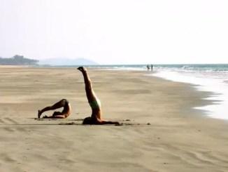 beach yoga by Kyle Lease