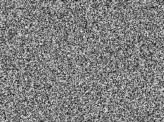 A visual representation of white noise