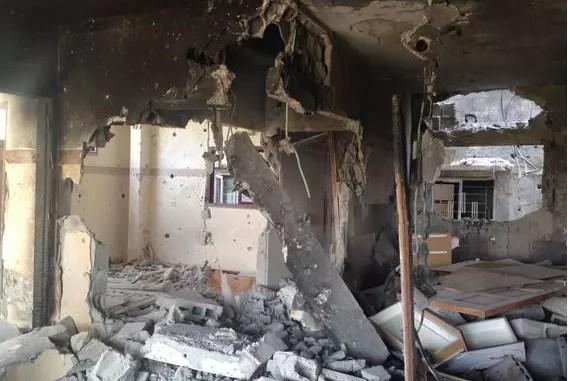 Remains of the Al Masrani's apartment, Gaza