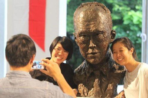 Lee Kuan Yew by Nacera Kainou (Bronze)