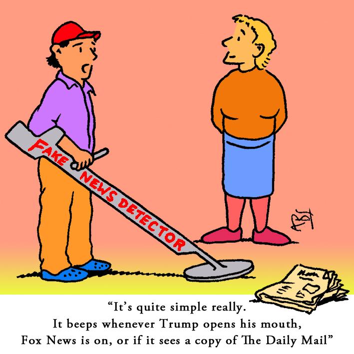 Fake News: Satirical Saturday Cartoon on Art by Alex Brenchley 2018