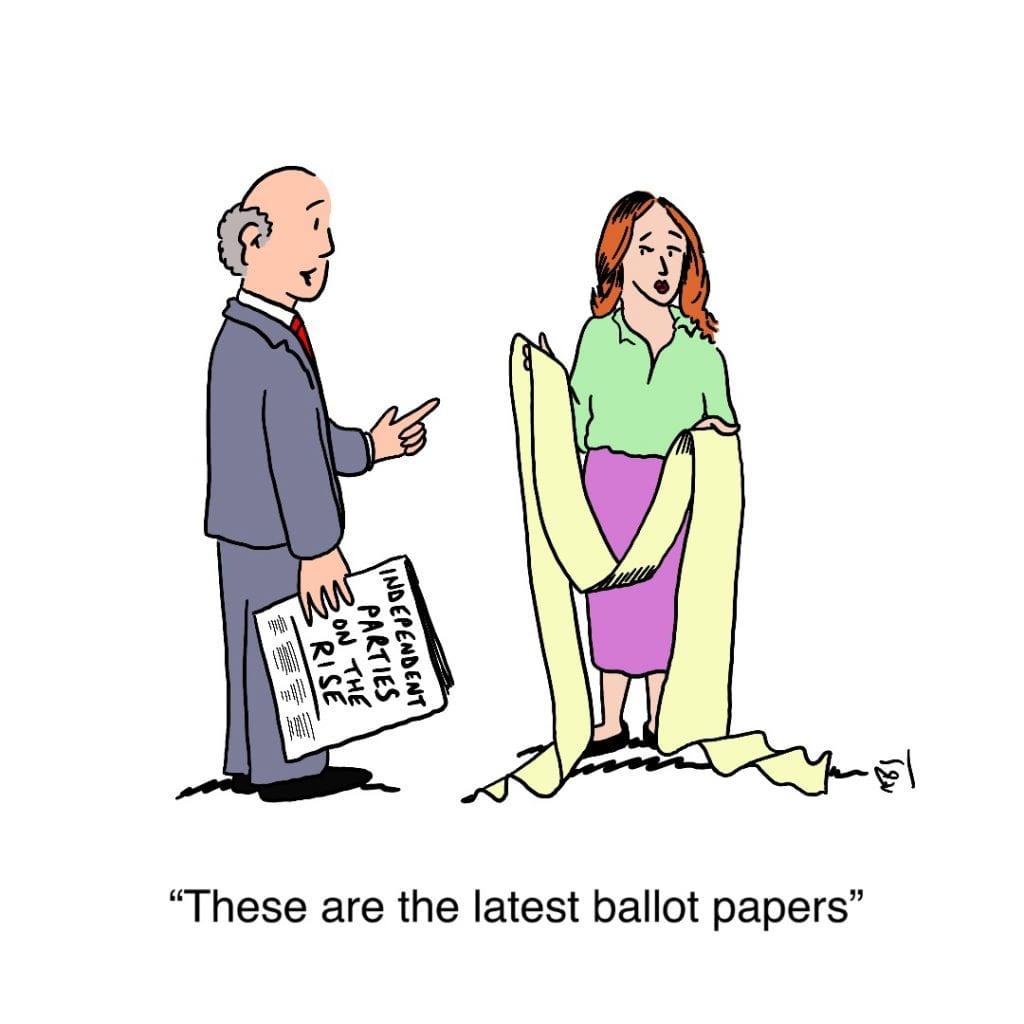 Ballot: Satirical Saturday Cartoon on Art by Alex Brenchley 2019