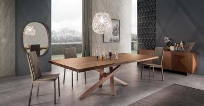 Ultimate and Modern Italian Design dining table GLIDE by Riflessi